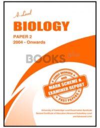 a level biology paper 2 2004 onwards unsolved
