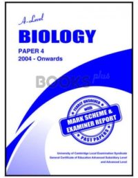 a level biology paper 4 2004 onwards unsolved