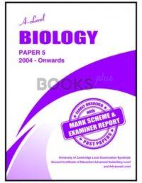 a level biology paper 5 2004 onwards unsolved