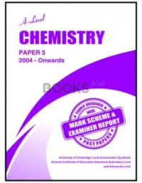 a level chemistry paper 5 2004 onwards unsolved past papers