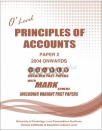 O Level Principles of Accounting Paper 2 Unsolved Past Papers [Nov-17] Including Variant Past Papers