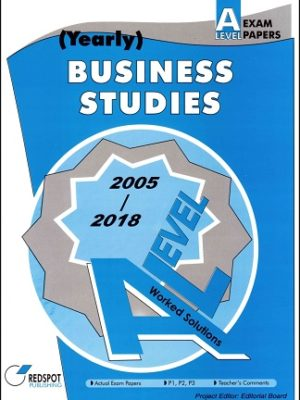 A Level Business Studies Yearly 2018 2019 redspot