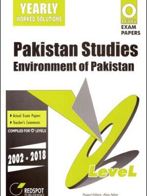 O Level Pakistan Studies Environment of Pakistan Redspot 2018 2019