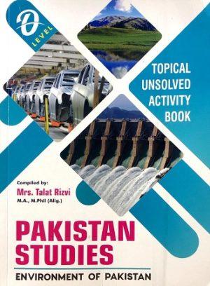 O Level Pakistan Studies Environment of Pakistan talat Rizvi Topical