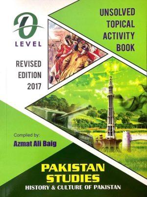 o level pakistan Studies History and Culture Azmat Ali baig
