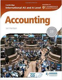Cambridge International AS & A Level Accounting Hodder Education ian harrison