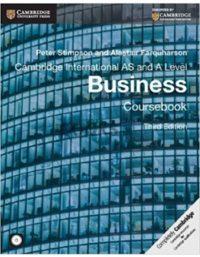 Cambridge International AS & A Level Business Coursebook 3rd Edition peter stimpson alastair
