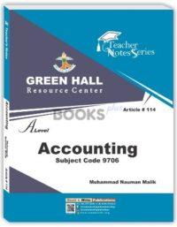 AS Level Accounting Notes by M Nauman Malik Green Hall