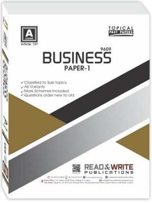 Business A Level Paper 1 Topica
