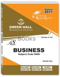 Business AS Level Notes by Kashif Aziz Green Hall