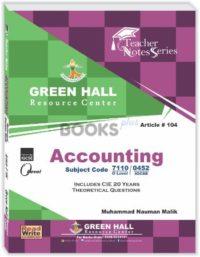 Accounting O Level Notes by Muhammad Nauman Malik