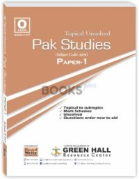Pakistan Studies O Level Paper 1 Topical Unsolved