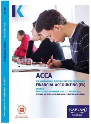 kaplan acca financial accounting FA F3 exam kit 2019