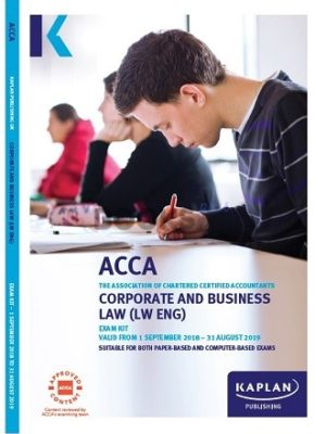 kaplan acca corporate and business law LW ENG exam kit 2019