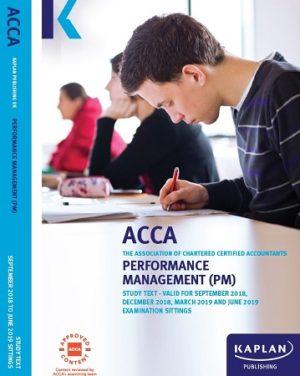 kaplan acca performance management f5 study text 2019