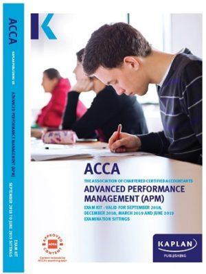 kaplan acca advanced performance management APM 2019 Exam Kit