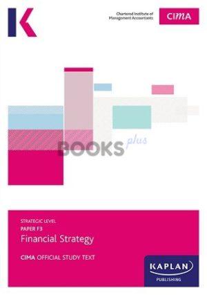 kaplan cima f3 financial strategy study text 2018