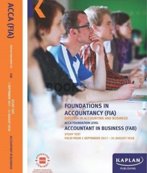 kaplan fia fab accountant in business study text 2017 2018