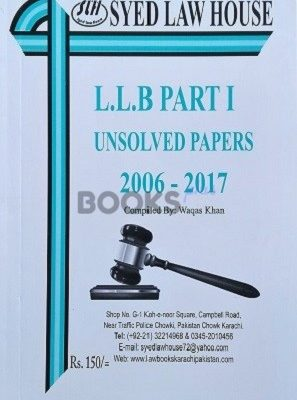 LLB Part 2 Unsolved Papers 2006 2017 Syed Law House