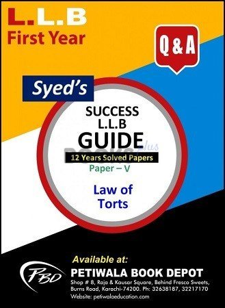 Paper 5 Law of Torts 12 years Solved Papers