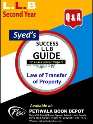 Paper 4 Law of Transfer of Property 12 years Solved Papers