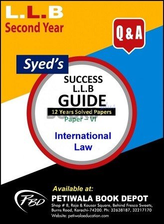 Paper 6 International Law 12 years Solved Papers