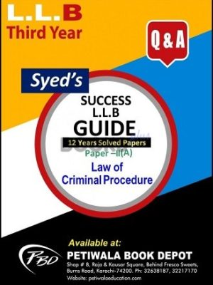 Paper 2 a Law of Criminal Procedure 12 years Solved Papers