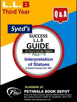 Paper 5 Interpretation of Statues 12 years Solved Papers