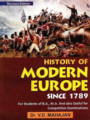 History of Modern Europe Since 1789 V D Mahajan