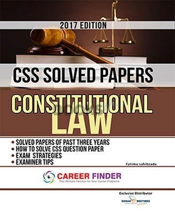 Constitutional Law CSS Solved Papers Dogar Brothers