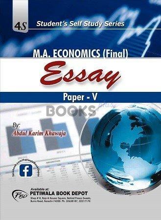 Essay For M A Economics Final