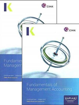 CIMA BA2 Fundamentals of Management Accounting Study text Exam kit 2019