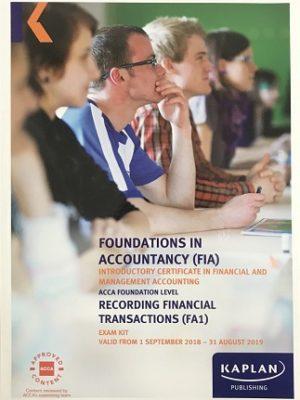 kaplan fia fa1 recording financial transactions exam kit 2018 2019