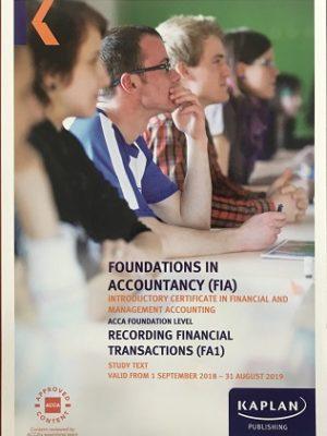 kaplan fia fa1 recording financial transactions study text 2018 2019