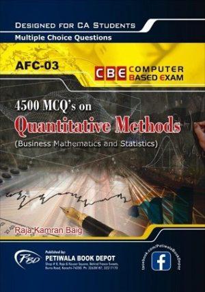 4500 MCQs on quantitative methods