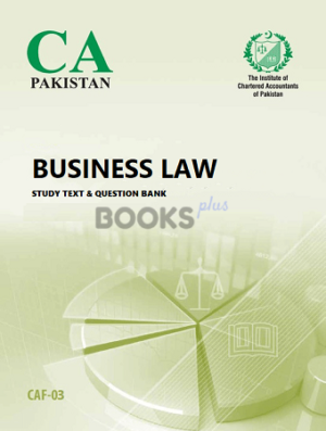 CA CAF 3 business law study text question bank ICAP