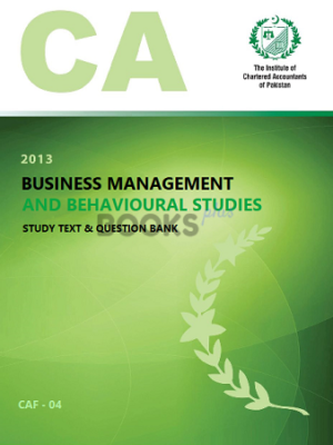 CA CAF 4 business management and behavioural studies ICAP