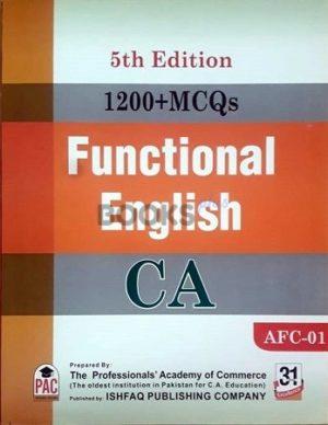 CA AFC 1 1200 MCQs Functional English 5th Edition PAC ishfaq publishing