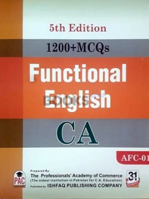 CA AFC 1 1200 MCQs Functional English 5th Edition PAC ishfaq publishing