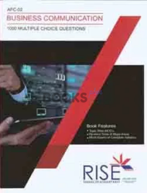 CA AFC 2 Business Communication 1000 MCQs Rise Publications