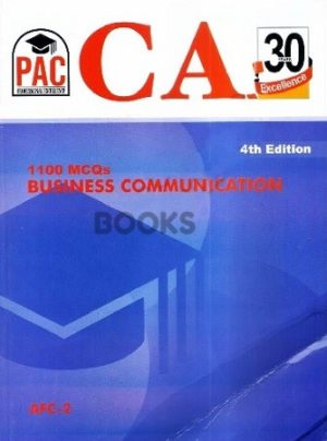 CA AFC 2 1100 MCQs Business Communication 4th Edition PAC