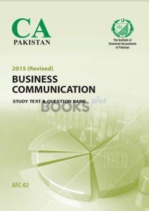 CA AFC 2 Business Communication Study Text Question Bank 2015 ICAP