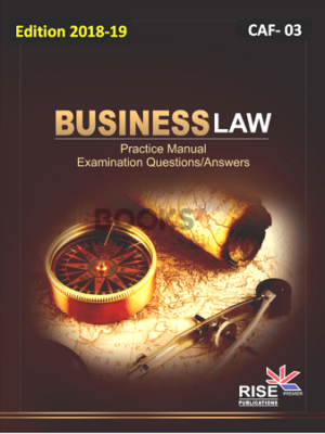 CA CAF 3 Business Law 2018 19 Rise Publication