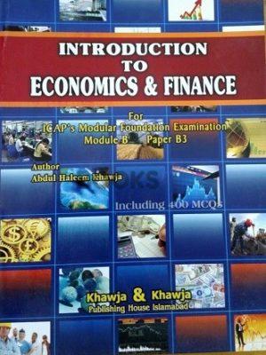 Introduction to Economics & Finance Khawja and Khawja
