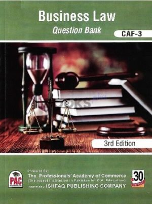 CA CAF 3 Business Law Question Bank 3rd Edition PAC