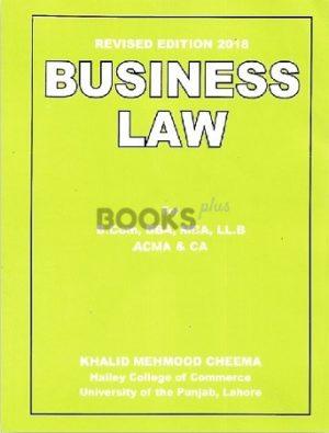 Business Law Revised Edition 2018 khalid mehmood cheema