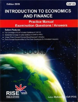 ca caf 2 economics practice manual 2019 muhammad asif rise