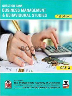 CA CAF 4 Business Management & Behavioural Studies Qbank PAC