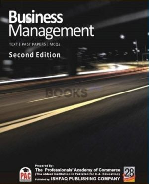 CA CFAP 3 Business Management Text Past Papers MCQs 2nd Edition PAC