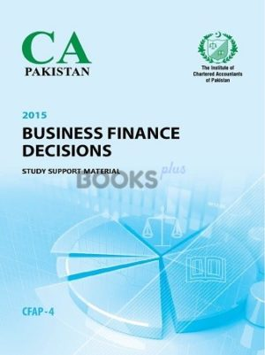 CA CFAP 4 Business Finance Decisions BFD Study Support Material ICAP